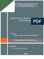Informe Parcial de instalaciones eléctricas