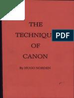 Hugo Norden - The Technique of Canon