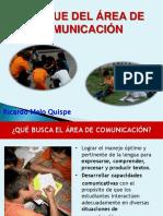 Enfoque Del Área de Comunicación y Las Capacidades Comunicativas PELA 05-08-2014