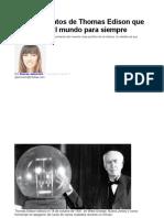 Los 10 Inventos de Thomas Edison Que Cambiaron El Mundo Para Siempre
