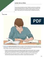 Cómo Escribir Un Resumen de Un Libro