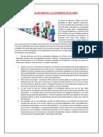 Problema de Empleo y La Inversión en El Perú