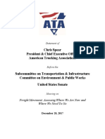 ATA President Chris Spear's Remarks to EPW Committee