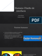 Factor Humano Diseño de Interfaces