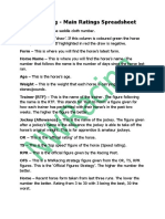 Nw Racing Spreadsheet Explained