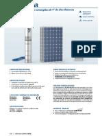 Pedrollo Sumergible Fluid Solar (Funciona con panel solar de 200 wts)