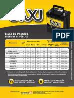 Lista Power Taxi 2017 Vig. Feb 2017 Def