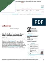 Cúpula dos Brics mostra que China espera eleição brasileira de 2018 - 06_09_2017 - Marcos Troyjo - Colunistas - Folha de S
