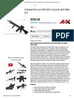 A&K Full Metal M16-A4 SPR NS15 Airsoft AEG Rifle LiPo Ready Airsoft AEG _ Evike