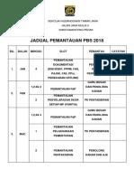 JADUAL PEMANTAUAN 2018