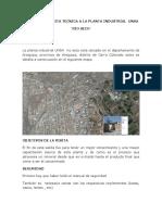 Informe de Visita Tecnica a La Planta Industrial Unsa