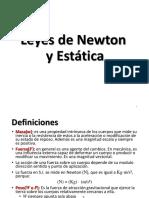 Leyes de Newton & Estatica-mik-2017-2