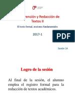 1A-ZZ04 El Texto Formal 2017-1