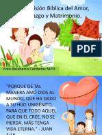 Cosmovision Biblica Del Amor, Noviazgo y Matrimonio