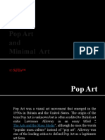 Pop Art and Minimal Art(Sarah's report)