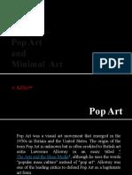 Pop Art and Minimal Art(Sarah's report)