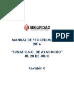 Manual de Procedimientos Sunat Jr 28 de Julio 2016