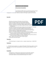 Job Description Information Security Manager