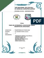 Perfil Del Extensionista Capacitación Tareas Requisitos Del Capacitador 1