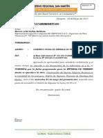 CARTA Nº -COMUNICO FECHA DE ENTREGA DE TERRENO SUPERV. ARMANAYACU.doc