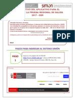 Instructivo Del Docente Ev. Regional de Salida 2017 Ebr