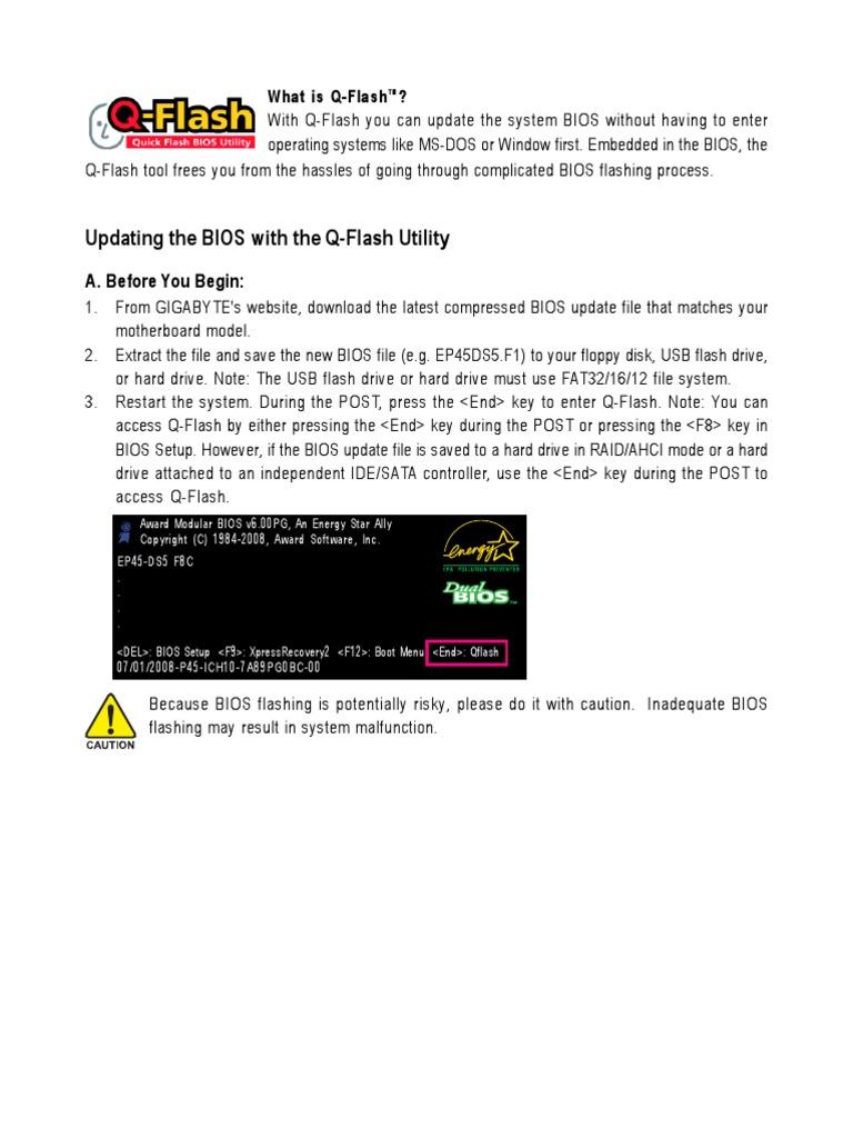 Q-Flash Guide | Bios | Hard Disk Drive