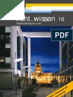 """licht.wissen 16  """"Stadtmarketing mit Licht"""""""