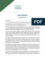 Ad Clerum Dec 2017 - Archbishop of Melbourne
