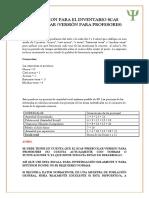 Coreccion Para El Inventario Scas Preescolar (Versión Para Profesores)