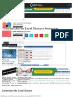 10 Exercícios de Excel Básico e Avançado - Blog LUZ