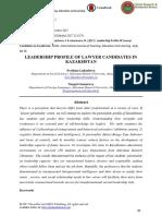 Leadership Profile of Lawyer Candidates in Kazakhstan