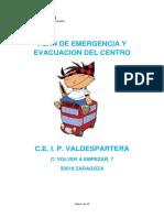 Plan de Emergencia y Evacuacion 13-14 Ceip Valdespartera