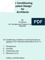 Air Conditioning System Design for Architects