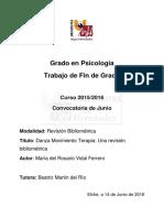 DMT Danza Movimiento Terapia Una Revision Bibliometrica Vidal Ferrero Maria Del Rosario
