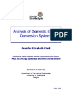 Analysis for Domestic Energy Conversion Systems
