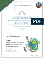 Metodologias de Transformacion de Energias Renovables