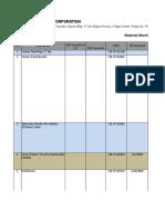 Materials Monitoring (Shell) 2015