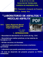 """LABORATORIO DE ASFALTOS Y MEZCLAS ASFÁLTICAS"""""""