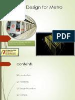 Earthmat Design for Metro Station
