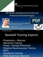 Off-Season Development for Baseball