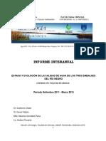 Eutrofizacion y Calidad de Agua de Los Embalses Del Rio Negro 2011 2015