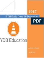 YDB Daily Doze 28 December 2018, Join our Telegram Channel for PDF @YDBEducation