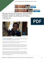 13. Mangku Pastika Kumpulkan Seluruh PNS Pemprov Bali Usia Di Bawah 30 Tahun, Ada Apa Ya_ - Tribun Bali