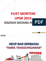 Postmortem & Intervensi 2016