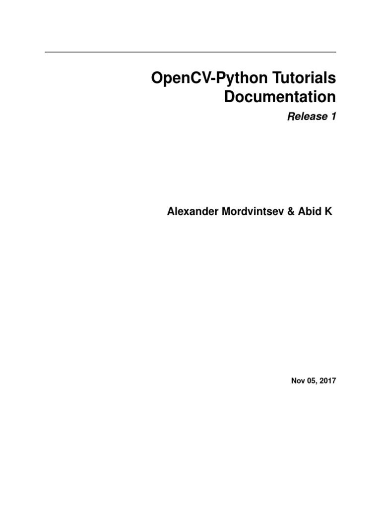 Opencv Python Tutroals | Python (Programming Language) | Computing