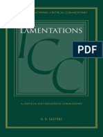 (the International Critical Commentary on the Holy Scriptures of the Old and New Testaments) R. B. Salters-A Critical and Exegetical Commentary on Lamentations-Bloomsbury T&T Clark (2011)