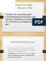 Unit 6 -The Business Plan