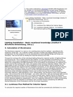 Formula and Parameter to Cal Illuminance