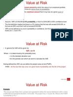 Value at Risk