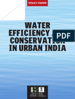 Urban Water Efficiency and Conservation